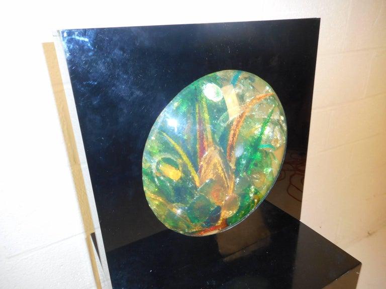 Late 20th Century Mid-Century Modern Sculpture Art Signed M. Blaine For Sale