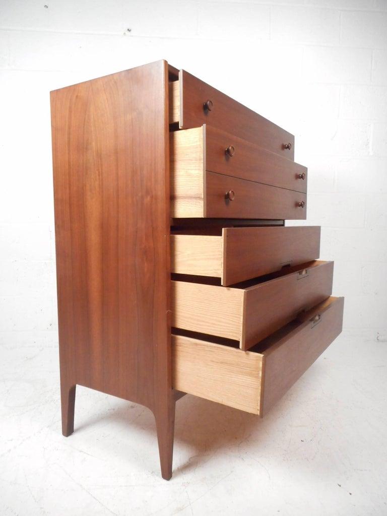 Mid-Century Modern Walnut Bedroom Set By United Furniture