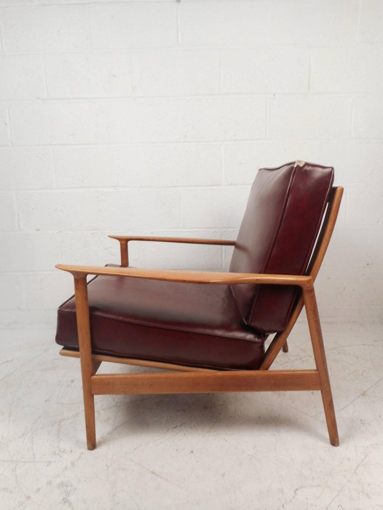 Mid Century Modern Danish Teak Lounge Chair For Sale At