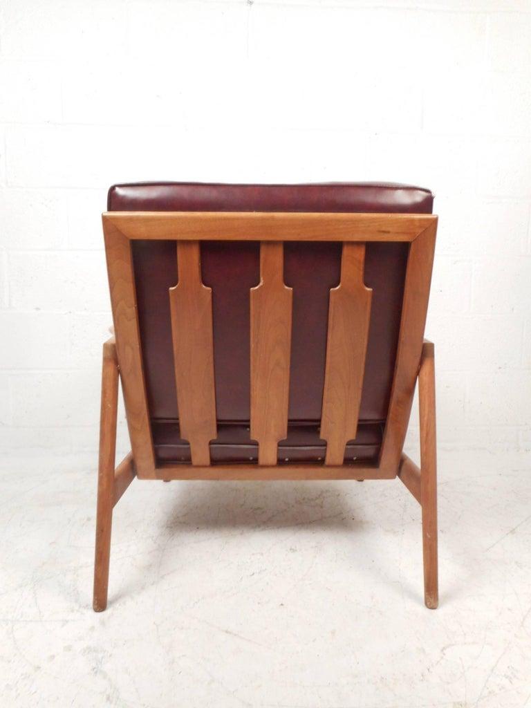 Late 20th Century Mid-Century Modern Danish Teak Lounge Chair For Sale