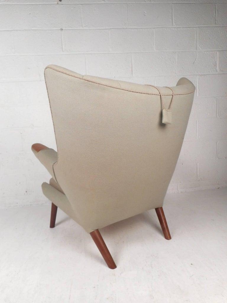 Danish Mid-Century Modern Papa Bear Lounge Chair by Hans J Wegner