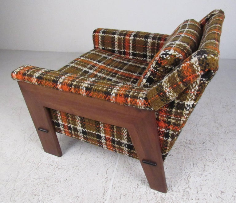 American Adrian Pearsall Attributed Lounge Chair with Ottoman For Sale