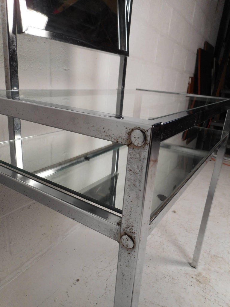 Mid-Century Modern Two-Tier Chrome Vanity For Sale 3