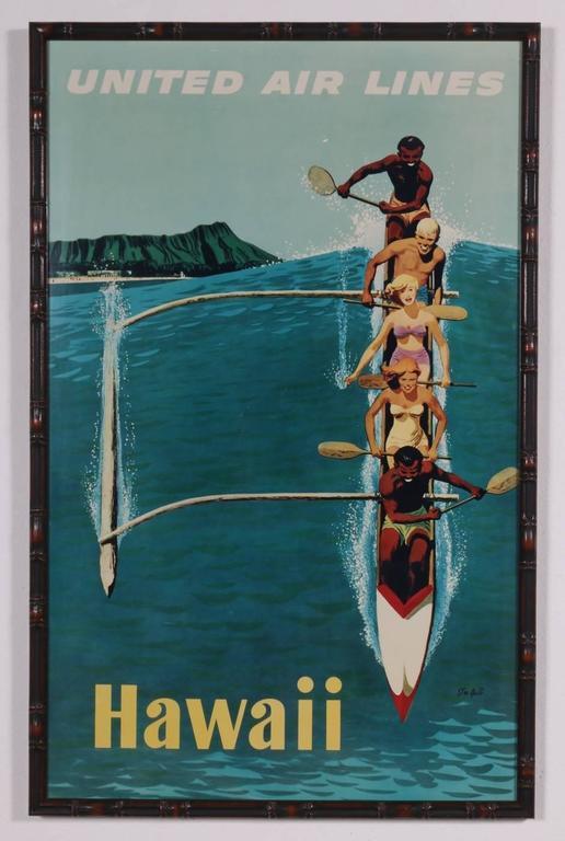 Set Of Three Full Size Hawaii Hawaiian Travel Posters