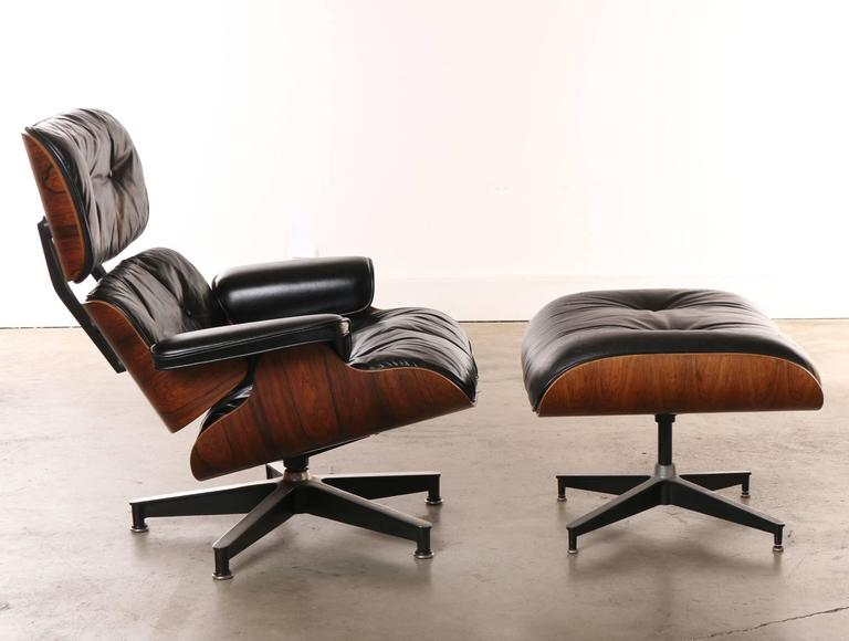 Eames Rosewood Lounge Chair And Ottoman, Historically Important Venice CA  1960s 2