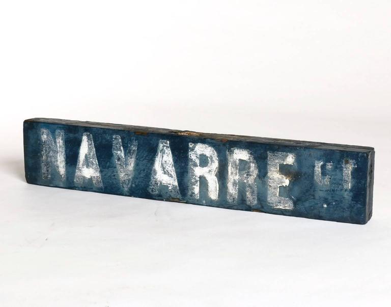 Venice California 1920s Wooden Street Signs At 1stdibs