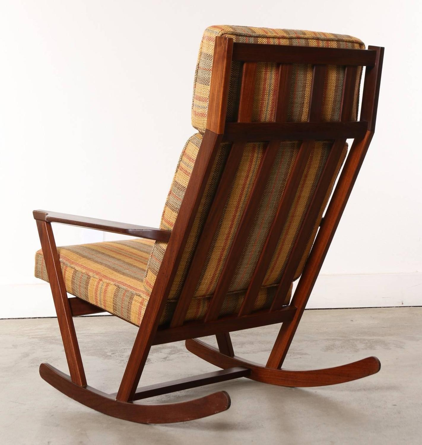 Modern Chair Pillows : Danish Modern Wooden Rocking Chair with Cushions Designed by Poul Volther, 1960s For Sale at 1stdibs