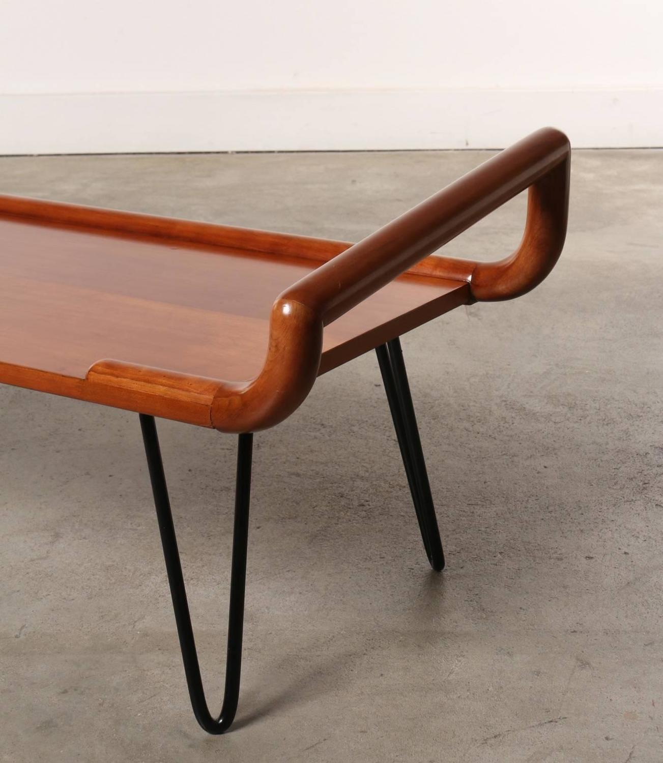 Hairpin Legs Table : Midcentury Table or Bench with Hairpin Legs at 1stdibs