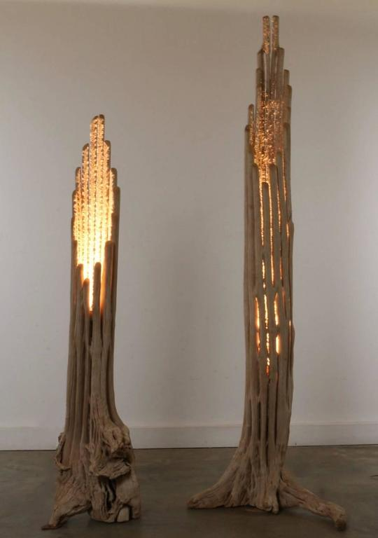 Saguaro Cactus Floor Lamp Pair At 1stdibs