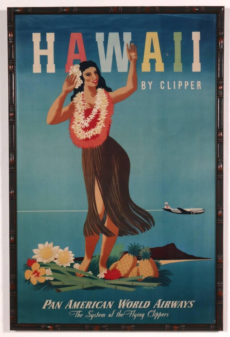 Set Of Three All Original Vintage Hawaii Travel Posters