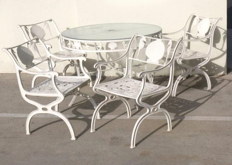 Molla Aluminum Patio Table And Chairs Five Piece Set