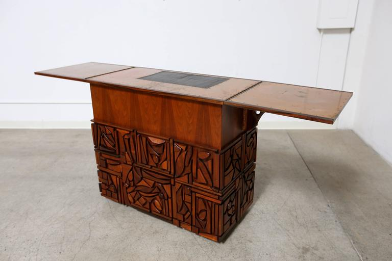 Studio crafted bar cabinet by artist mabel hutchinson at for Sellaro arredamenti