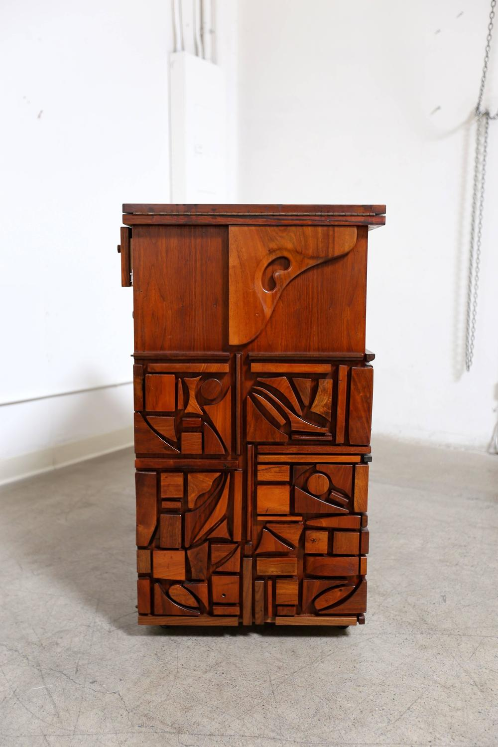 Studio Crafted Bar Cabinet By Artist Mabel Hutchinson For Sale At 1stdibs