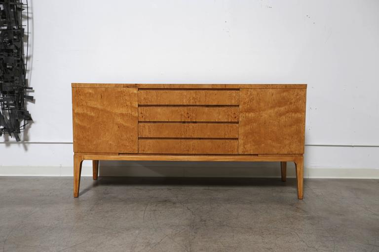 Karelian Birch Burl Wood Credenza For Sale At 1stdibs