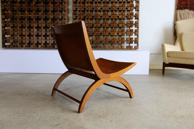 Birch Lounge Chair by Milo Baughman for Murray For Sale