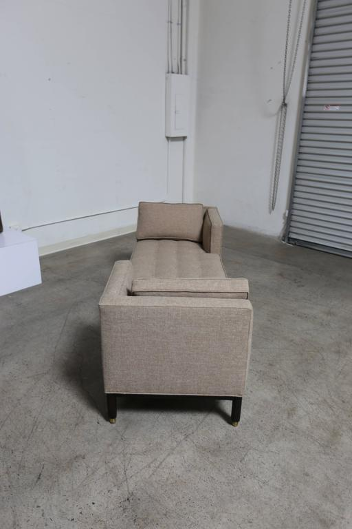 American Dunbar Tête-à-Tête Sofa by Edward Wormley For Sale