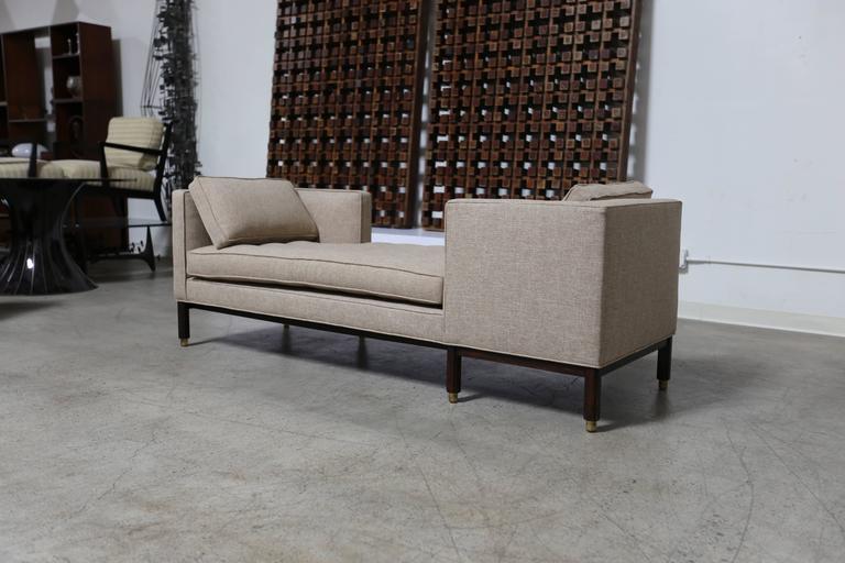 Dunbar tête-à-tête sofa by Edward Wormley.