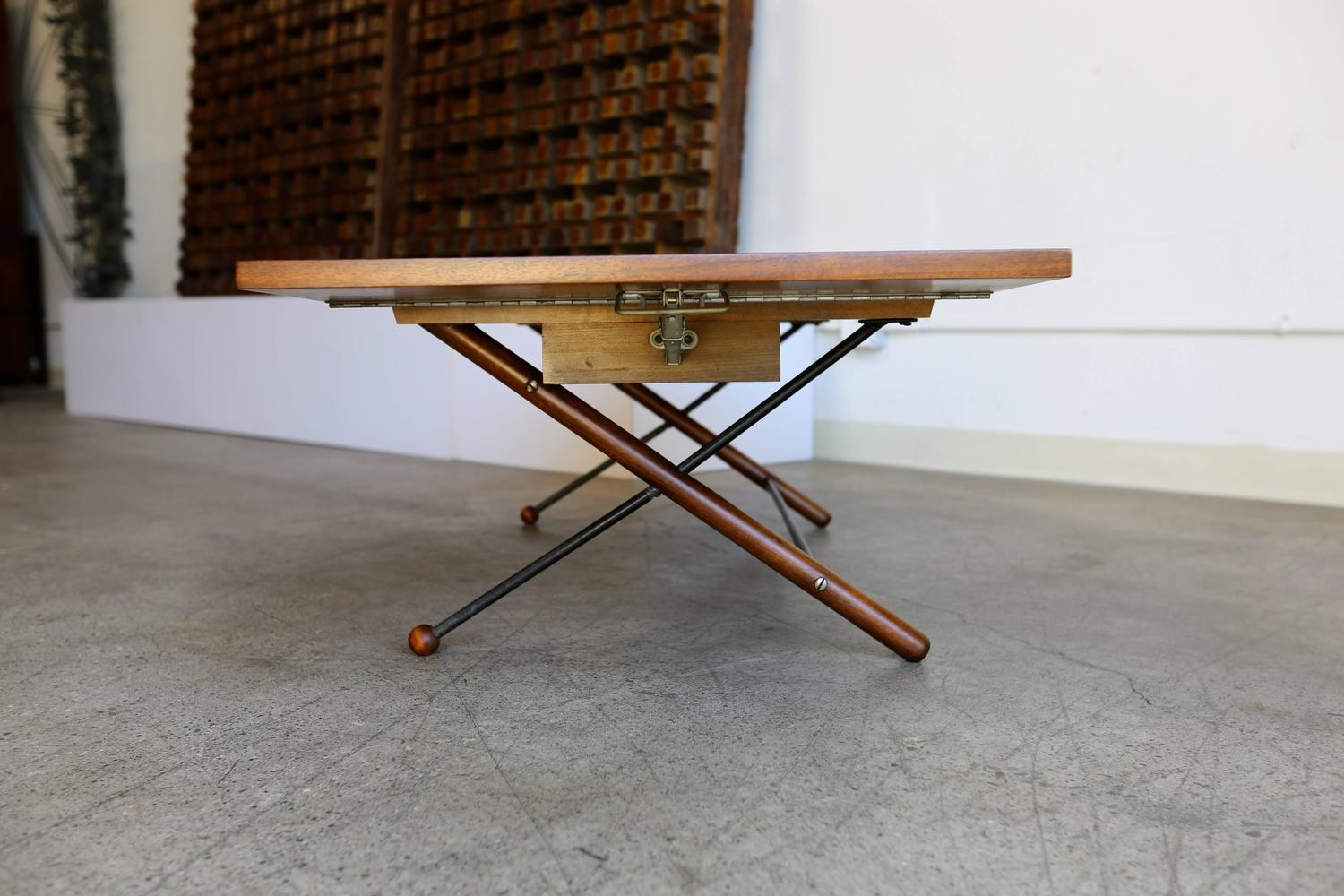 Rare Drop Leaf Coffee Table By Greta Grossman At 1stdibs