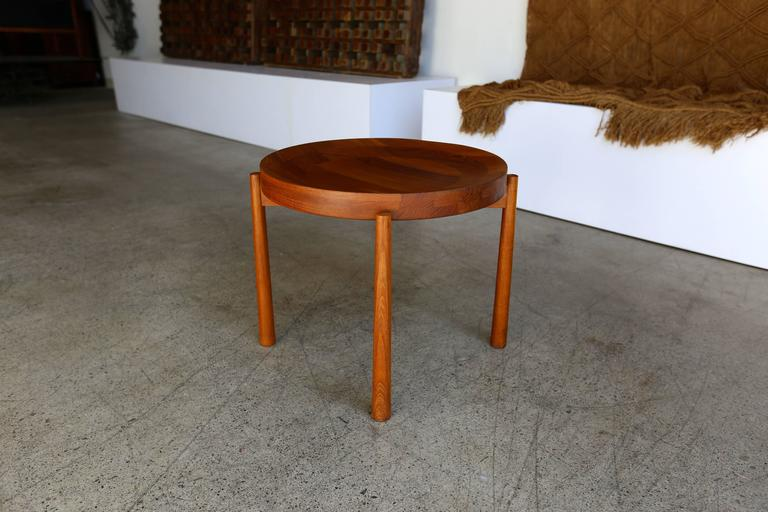Mid-Century Modern Teak Side Table Imported by Dux