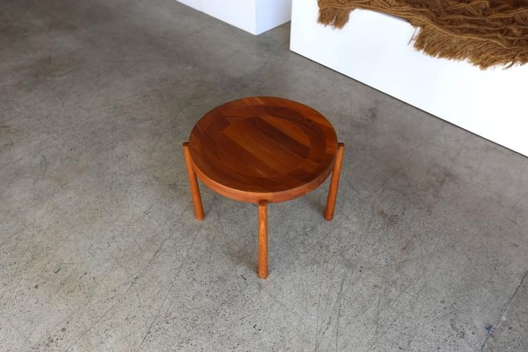 Teak side table Imported by Dux.