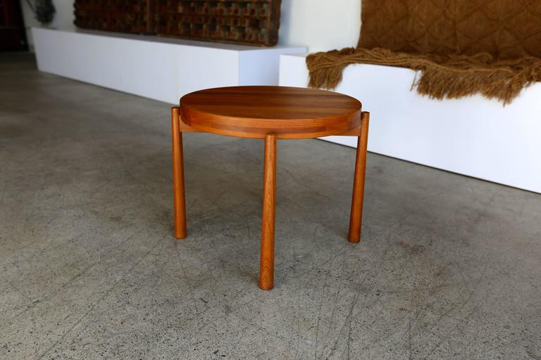 20th Century Teak Side Table Imported by Dux