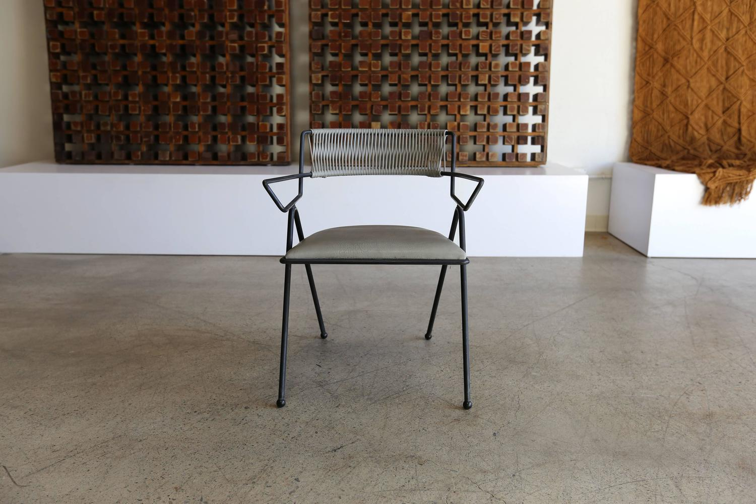 Set Of Six Iron Captain 39 S Chairs By Delta Furniture