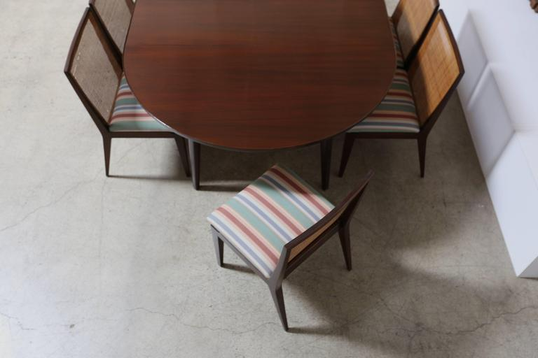 Stained Dining Set by Edward Wormley for Dunbar For Sale