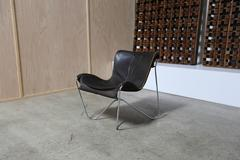 Leather and Chrome Lounge Chair by Max Gottschalk