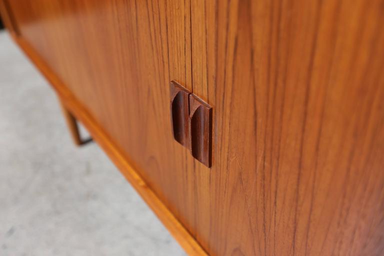 Tambour Door Credenza by Svend Aage Larsen In Good Condition For Sale In Costa Mesa, CA