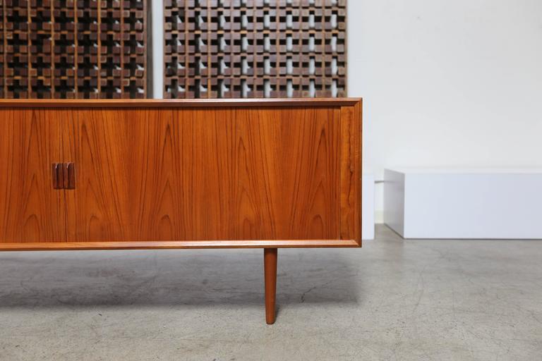 Mid-Century Modern Tambour Door Credenza by Svend Aage Larsen For Sale