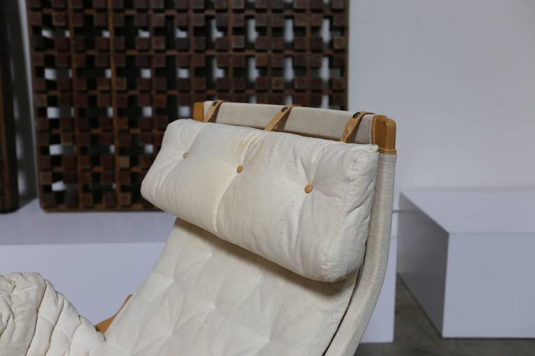 Pernilla Lounge Chair and Ottoman by Bruno Mathsson In Good Condition For Sale In Costa Mesa, CA