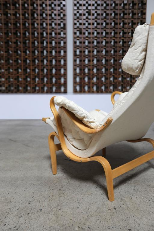 20th Century Pernilla Lounge Chair and Ottoman by Bruno Mathsson For Sale
