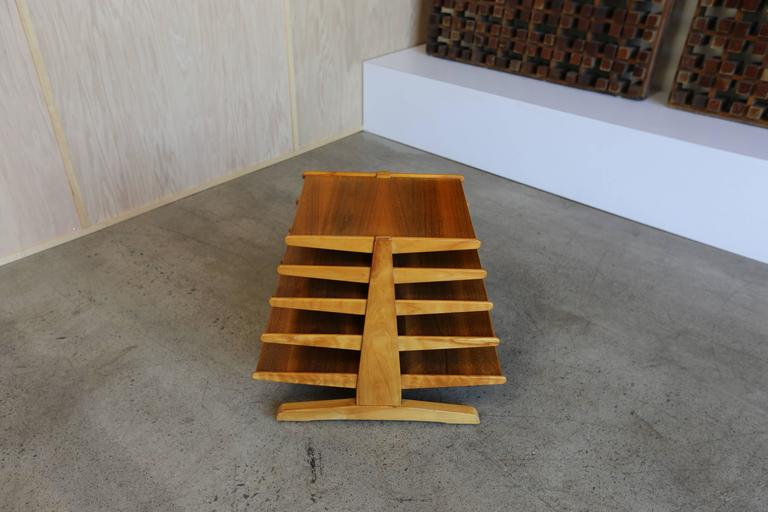 Edward Wormley magazine tree table or rack model # 4765 for Dunbar.