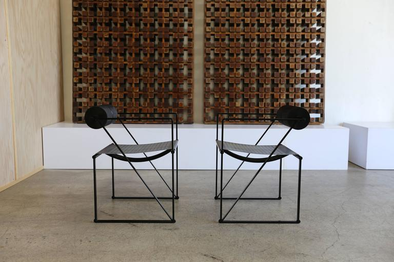 20th Century Pair of Seconda 602 Armchairs by Architect Mario Botta For Sale