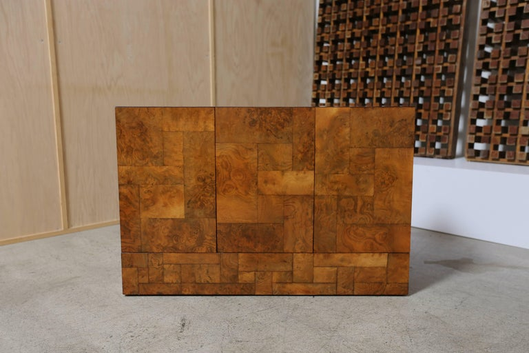 Paul evans burl wood cityscape cabinet for sale at 1stdibs for Burl wood kitchen cabinets