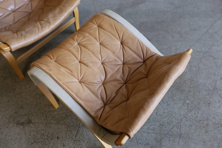 Pernilla Lounge Chair with Ottoman by Bruno Mathsson 6
