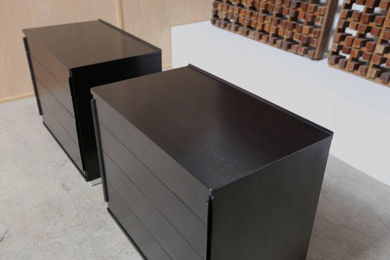 Ebonized Pair of Chest by Edward Wormley for Dunbar In Good Condition For Sale In Laguna Hills, CA