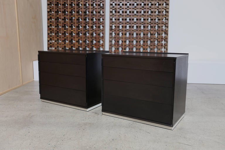 20th Century Ebonized Pair of Chest by Edward Wormley for Dunbar For Sale
