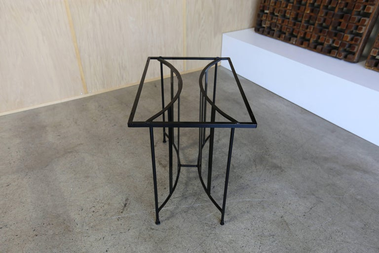 Powder-Coated Console Table by Paul Laszlo for Pacific Iron For Sale