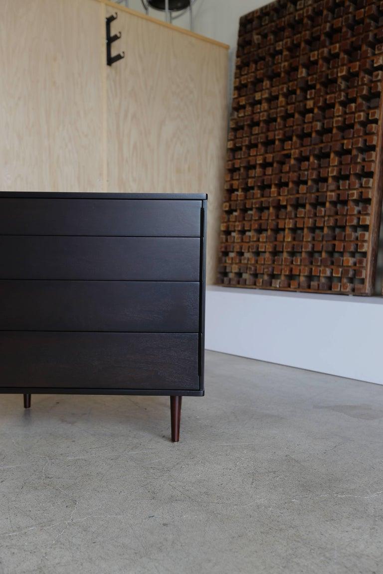 Ebonized Four-Drawer Chest by Edward Wormley for Dunbar For Sale