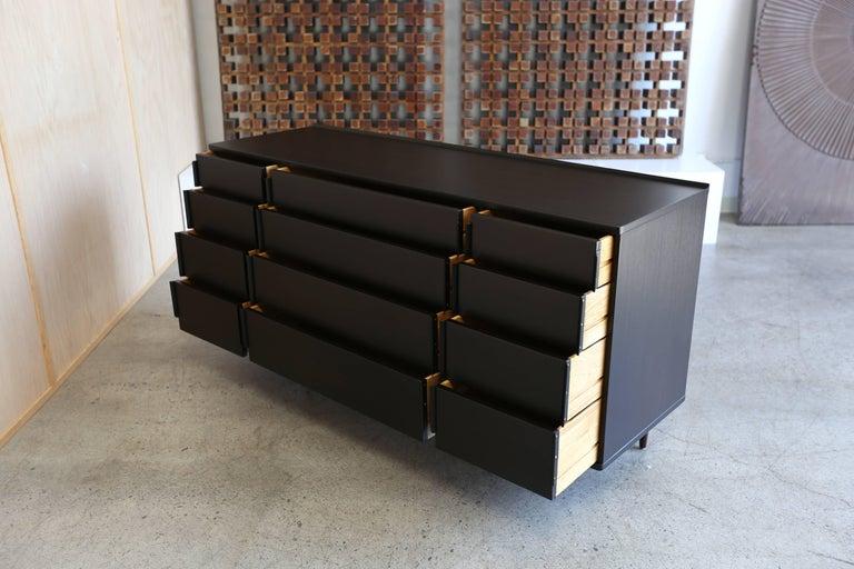 Ebonized 12-Drawer Dresser by Edward Wormley for Dunbar For Sale