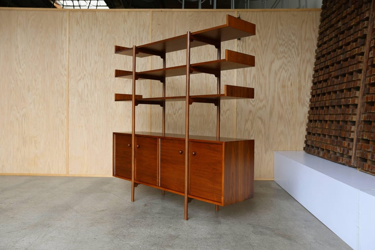Walnut Milo Baughman Room Divider for Glenn of California For Sale