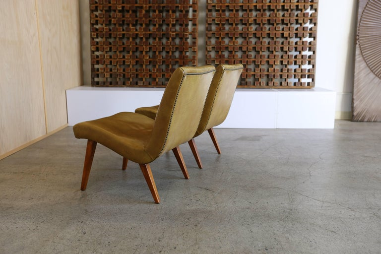 American Early Pair of Lounge Chairs by Jens Risom for Knoll For Sale