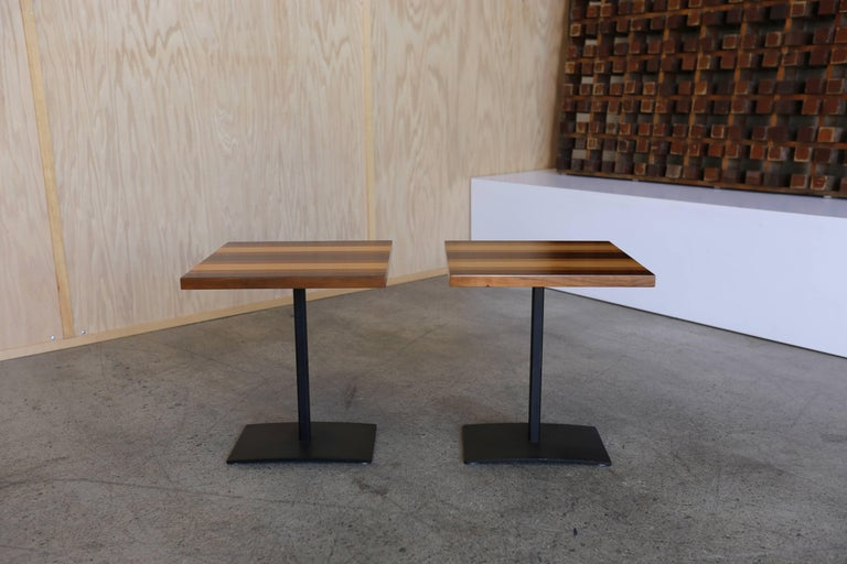 Enameled Pair of Occasional Tables by Milo Baughman for Thayer Coggin For Sale
