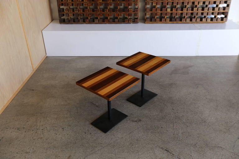 American Pair of Occasional Tables by Milo Baughman for Thayer Coggin For Sale