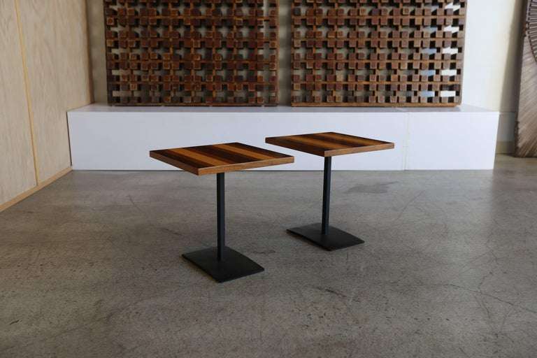 Mid-Century Modern Pair of Occasional Tables by Milo Baughman for Thayer Coggin For Sale