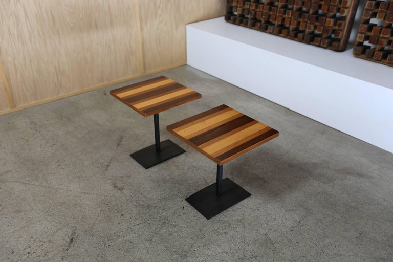 Pair of occasional tables by Milo Baughman for Thayer Coggin.