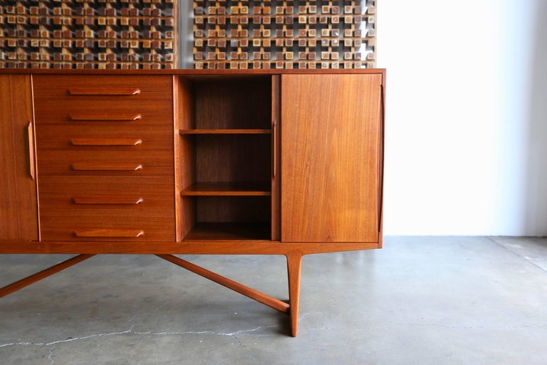 Credenza by Kurt Ostervig for Brande Mobelindustri of Denmark In Good Condition For Sale In Costa Mesa, CA