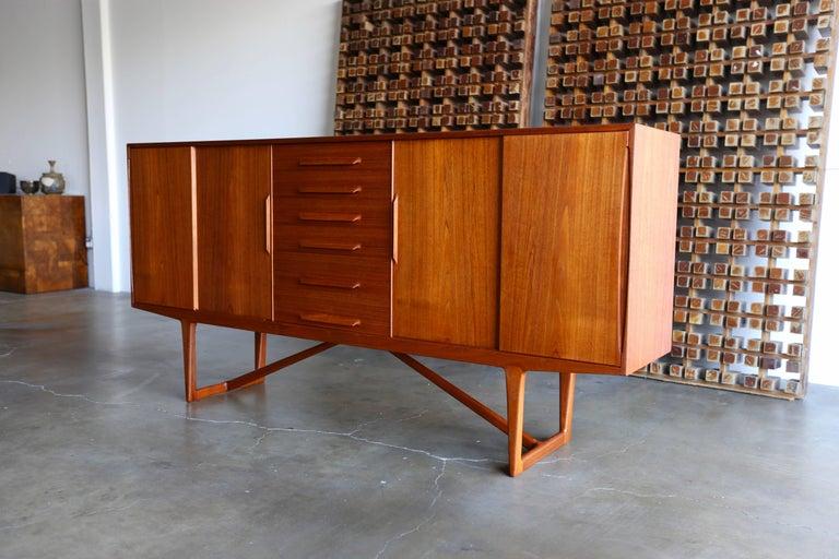 Teak credenza by Kurt Ostervig for Brande Mobelindustri of Denmark.