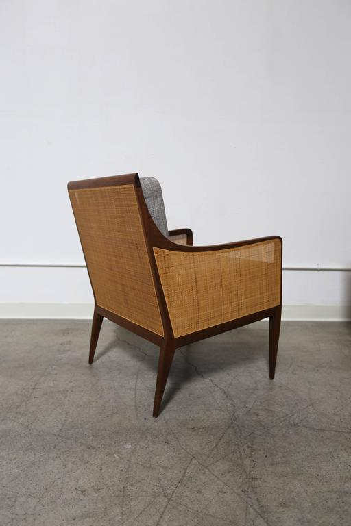 Pair of caned lounge chairs by Milo Baughman for Directional Furniture Company. Part of Directional's Country Villa Collection.